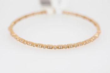 Rose Gold Diamond Bangle (.38 Tw)